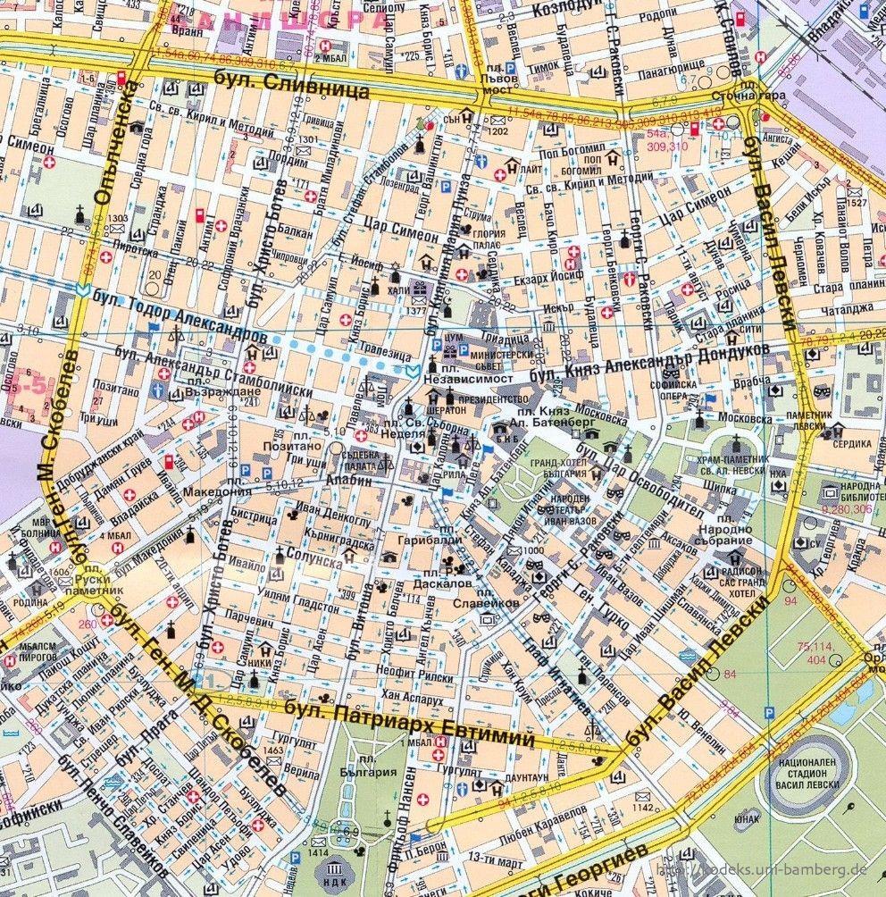 Kodeks Bulgaria Sofia Maps