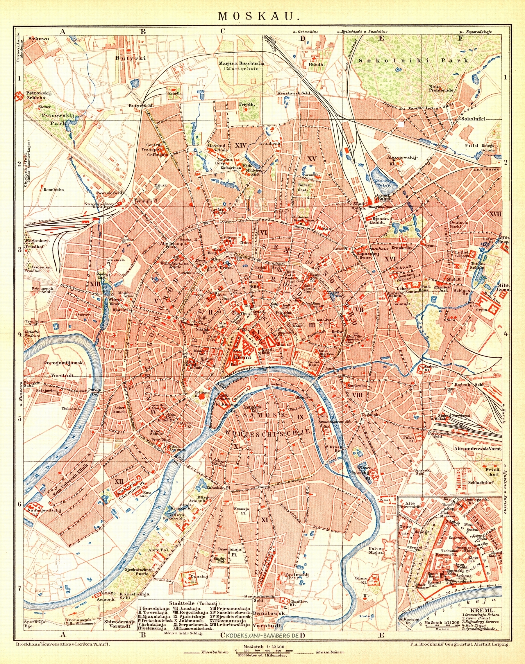 Kodeks - Moscow City Map (1892)